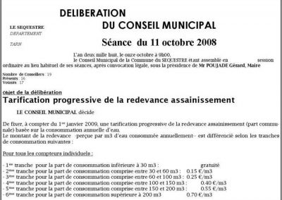 tarification progressive de l'eau