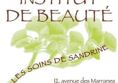 INSTITUT DE BEAUTE – LES SOINS DE SANDRINE