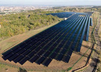 centrale solaire sur 8 ha (4 MWc)
