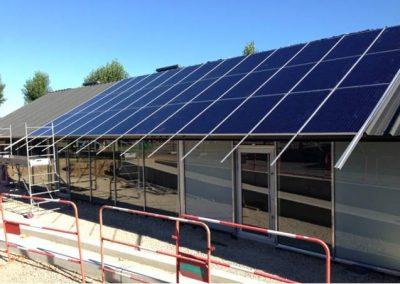 toit photovoltaïque sur les bâtiments communaux