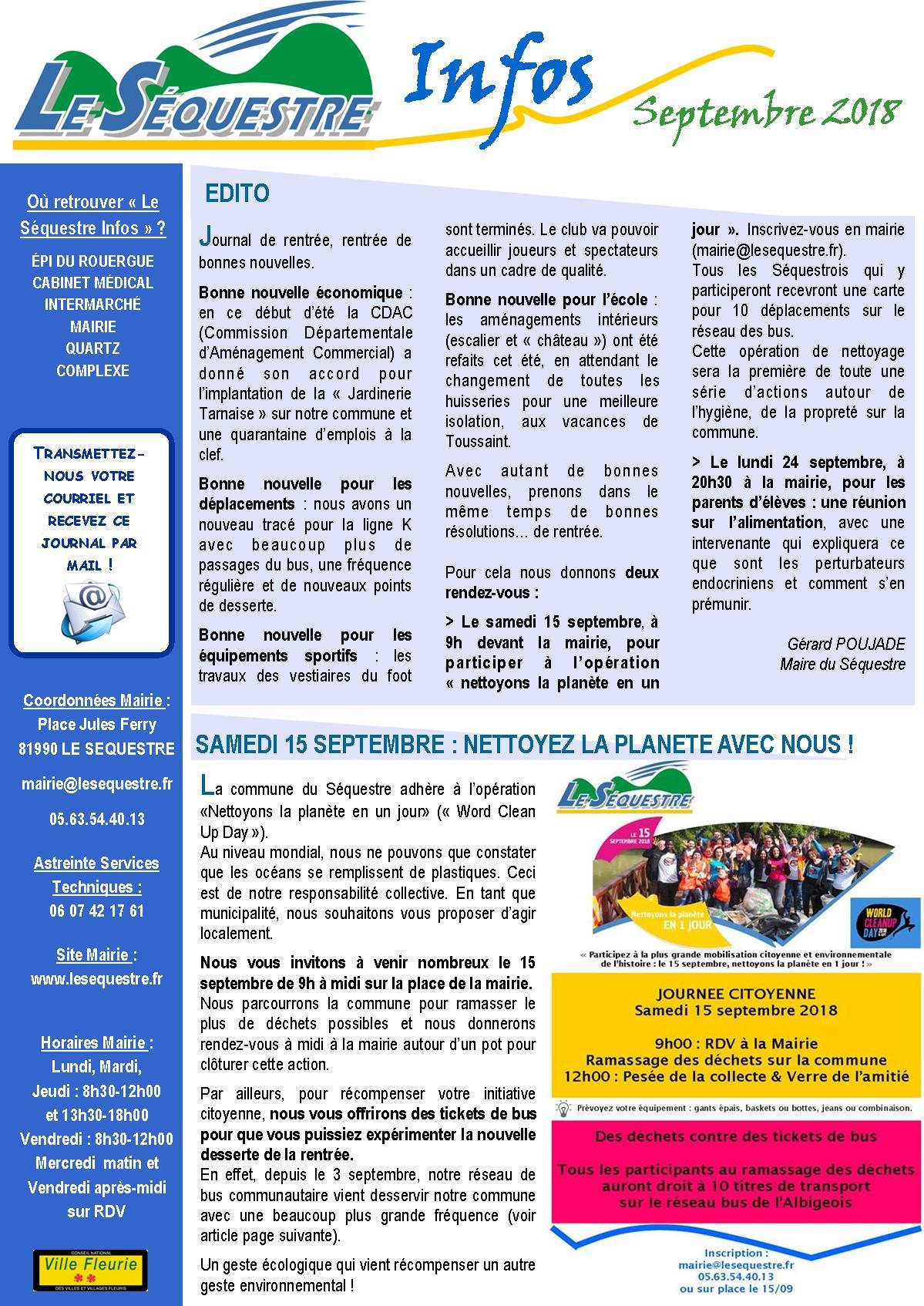 Journal municipal - Site officiel de la ville du Séquestre