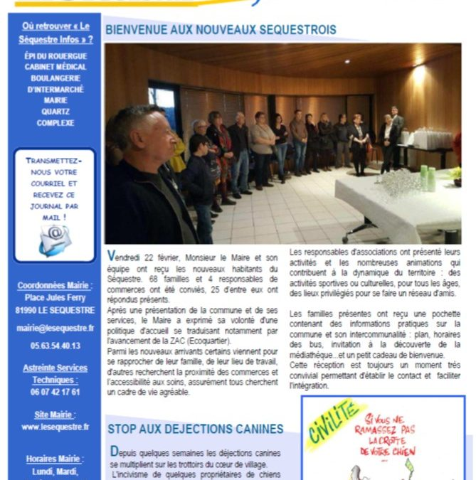 Journal municipal de mars 2019