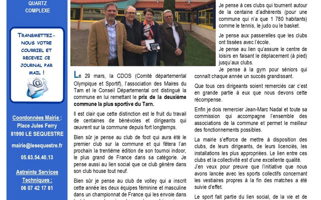 Journal municipal d'avril 2019