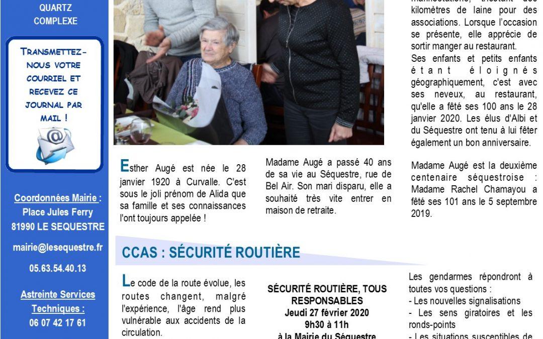 JOURNAL MUNICIPAL DE FEVRIER 2020