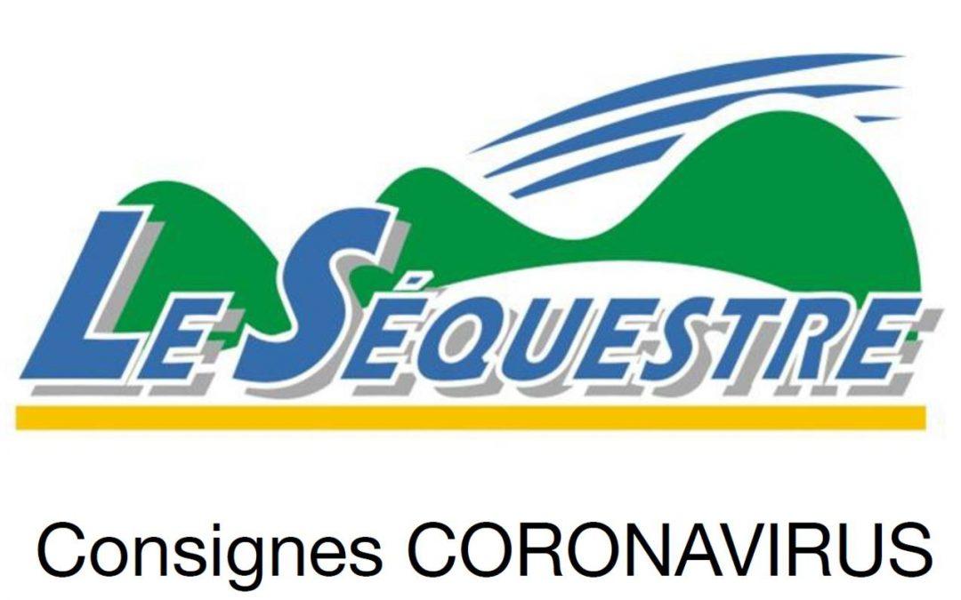 CONSIGNES CORONAVIRUS