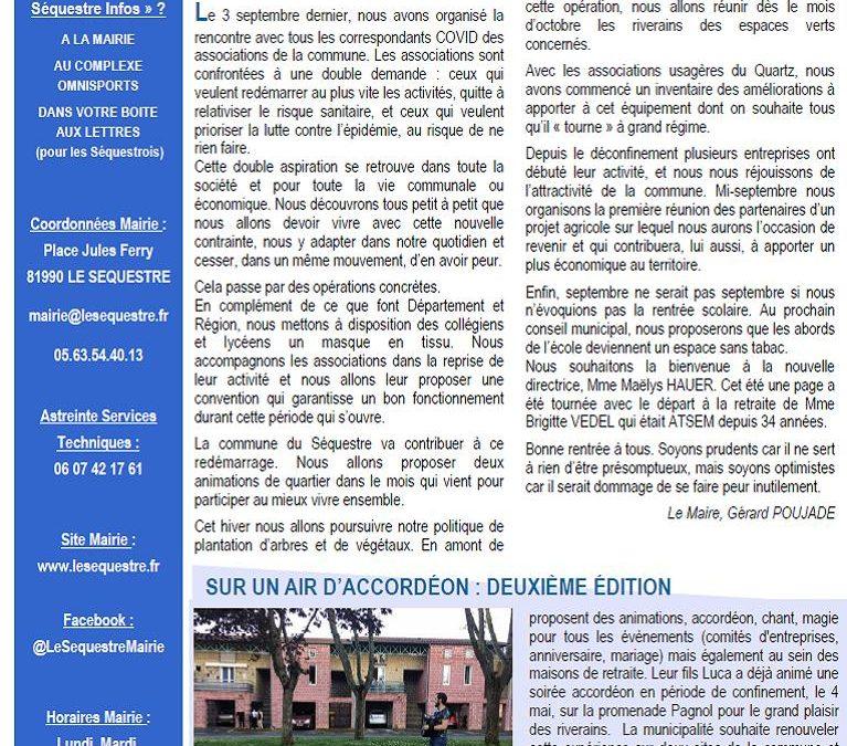 JOURNAL MUNICIPAL DE SEPTEMBRE 2020